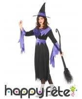 Déguisement noir et violet de sorcière pour adulte, image 2