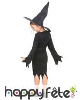 Déguisement noir uni de sorcière pour fillette, image 2