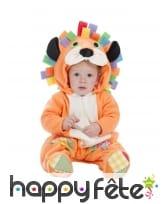 Déguisement orange de lion pour bébé