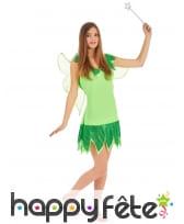 Déguisement pailleté de fée verte pour femme, image 1