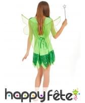 Déguisement pailleté de fée verte pour femme, image 3