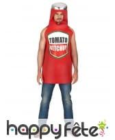 Déguisement pot de ketchup