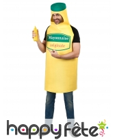 Déguisement pot de mayonnaise