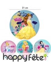 Disque Princesses Disney en azyme de 21cm