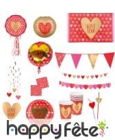 Décorations pour la St Valentin ornées de coeur