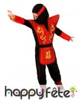 Déguisement petit ninja rouge avec larges épaules, image 1