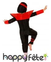 Déguisement petit ninja rouge avec larges épaules, image 2