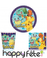 Déco Pokemon pour table d'anniversaire