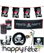 Décorations pirate pour fête d'anniversaire