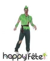 Déguisement Peter Pan zombie pour adulte