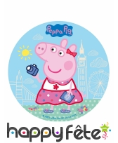 Disque Peppa Pig en sucre de 20cm, image 1