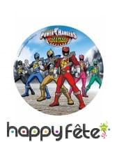 Disque Power Rangers de 21cm en azyme, image 1