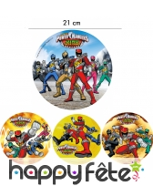 Disque Power Rangers de 21cm en azyme