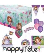 Décos princesse Sofia pour anniversaire