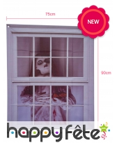 Décor poupée tueuse pour fenêtre, 90x75cm, image 1