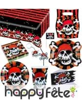 Décorations pirate tête de mort pour anniversaire