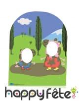Double passe-têtes Peppa Pig pour enfant