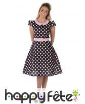 Déguisement robe à pois roses années 50