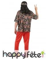 Déguisement rouge avec motifs hippie pour homme, image 2