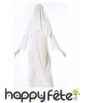 Déguisement religieuse blanche fantôme pour femme, image 1