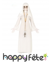 Déguisement religieuse blanche fantôme pour femme