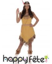 Déguisement robe beige d'indienne