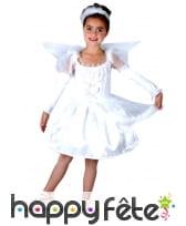 Déguisement robe blanche d'ange pour fillette