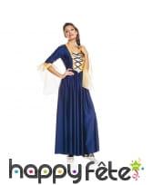 Déguisement robe bleue médiévale