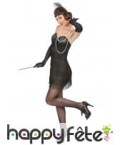 Déguisement robe charleston noire sexy à franges, image 1