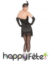 Déguisement robe charleston noire sexy à franges, image 2