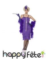 Déguisement robe charleston violette grande taille