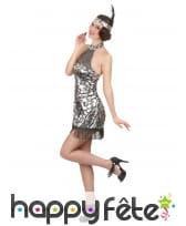 Déguisement robe courte charleston à dos nu, image 2