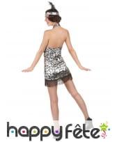 Déguisement robe courte charleston à dos nu, image 3