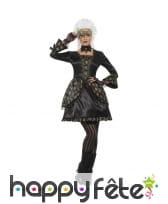 Déguisement robe courte de bal masqué noire luxe