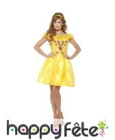 Déguisement robe courte de Belle pour adulte