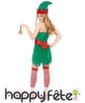 Déguisement robe courte de lutin de Noël, image 3