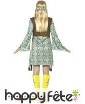 Déguisement robe courte hippie motifs années 80, image 1
