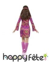 Déguisement robe courte Woodstock de Hippie, image 2