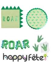 Déco Roar dinosaure pour table d'anniversaire