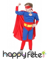 Déguisement rembouré de superman pour enfant
