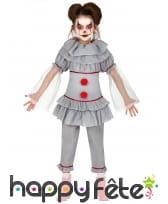 Déguisement rétro de clown sinistre pour fille
