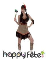 Déguisement robe d'indienne dos nu à franges