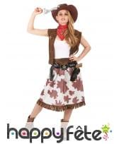 Déguisement robe de cowgirl vachette