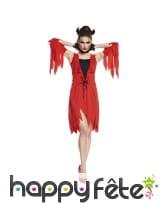 Déguisement robe de diablesse rouge mi-longue