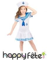 Déguisement robe de marin pour petite fille