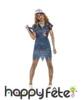 Déguisement robe de péquenaud Hillbilly zombie