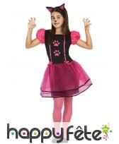 Déguisement robe de petit chat pour rose noir