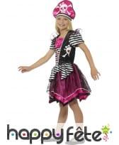 Déguisement robe de piratesse girly pour enfant, image 2