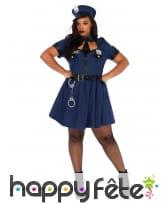 Déguisement robe de policière grande taille