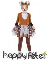 Déguisement robe de renne pour fille